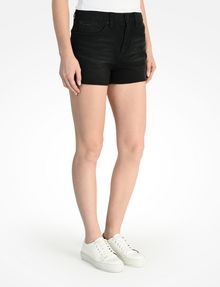 ARMANI EXCHANGE STUDDED BLACK HIGH RISE DENIM SHORTS Denim Short D d