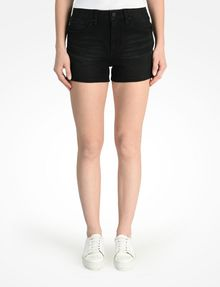 ARMANI EXCHANGE STUDDED BLACK HIGH RISE DENIM SHORTS Denim Short D f