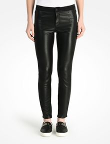ARMANI EXCHANGE FAUX LEATHER AND KNIT SKINNY JEANS Skinny Fit Denim D f