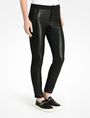 ARMANI EXCHANGE FAUX LEATHER AND KNIT SKINNY JEANS Skinny Fit Denim D d