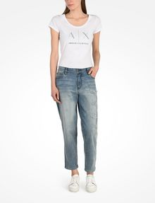 Armani Exchange LIGHT WASH DISTRESSED BOYFRIEND JEANS, Boyfriend ...