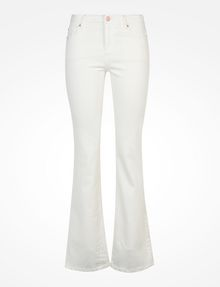 Armani Exchange WHITE MID RISE BOOTCUT JEANS, Bootcut Fit Denim ...