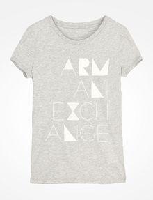ARMANI EXCHANGE ビーズロゴTシャツ ロゴTシャツ レディース b