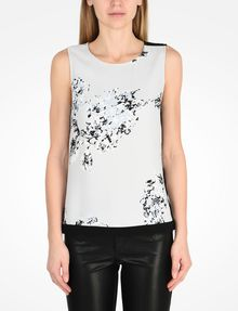 ARMANI EXCHANGE DAY TO NIGHT TANK S/L Woven Top Woman f