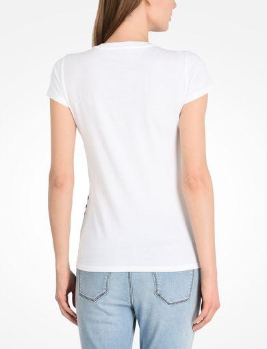 裾ボーダー VネックTシャツ