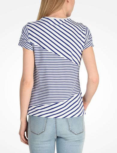 MIXED STRIPE HIDDEN POCKET TEE