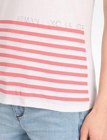 ARMANI EXCHANGE STRIPED V-NECK TEE Non-Logo Tee Woman e