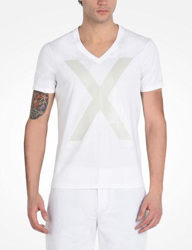 ビッグロゴ VネックTシャツ