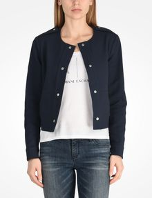 ARMANI EXCHANGE TEXTURED CROPPED COLLARLESS JACKET Jacket D f