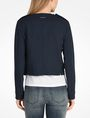 ARMANI EXCHANGE TEXTURED CROPPED COLLARLESS JACKET Jacket D r