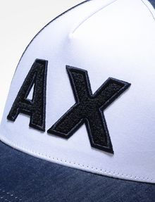 ARMANI EXCHANGE DENIM PATCH LOGO HAT Hat Man d