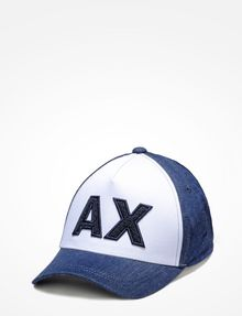 ARMANI EXCHANGE DENIM PATCH LOGO HAT Hat Man f