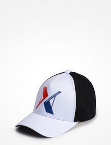 ARMANI EXCHANGE RUBBERIZED INVERTED LOGO CAP Hat U f