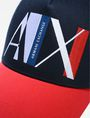 ARMANI EXCHANGE A|X ABSTRACT LOGO TRUCKER Hat U d