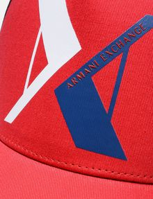 ARMANI EXCHANGE RUBBERIZED INVERTED LOGO CAP Hat U d