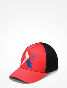 ARMANI EXCHANGE RUBBERIZED INVERTED LOGO HAT Hat U f