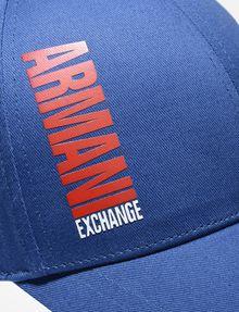 ARMANI EXCHANGE HIGH-SHINE PRINT LOGO HAT Hat U d