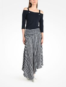 ARMANI EXCHANGE STRIPED ASYMMETRIC MIDI SKIRT Skirt D a