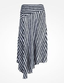 ARMANI EXCHANGE STRIPED ASYMMETRIC MIDI SKIRT Skirt D b