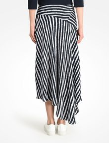 ARMANI EXCHANGE STRIPED ASYMMETRIC MIDI SKIRT Skirt D r