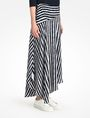 ARMANI EXCHANGE STRIPED ASYMMETRIC MIDI SKIRT Skirt D d