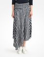 ARMANI EXCHANGE STRIPED ASYMMETRIC MIDI SKIRT Skirt D f