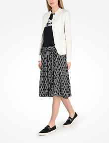 ARMANI EXCHANGE VINTAGE INSPIRED SCALLOP PRINT MIDI SKIRT Skirt D a