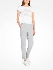 ARMANI EXCHANGE SEERSUCKER TROUSERS Pant Woman a