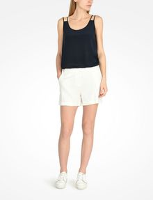 ARMANI EXCHANGE BUTTON FRONT LINEN SHORTS Shorts D a