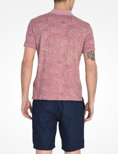 リーフプリント ポロシャツ