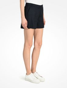 ARMANI EXCHANGE BUTTON FRONT LINEN SHORTS Shorts Woman d