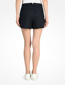 ARMANI EXCHANGE BUTTON FRONT LINEN SHORTS Shorts D r
