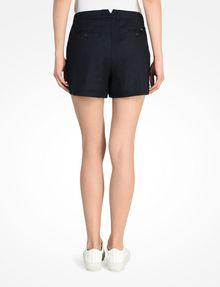 ARMANI EXCHANGE BUTTON FRONT LINEN SHORTS Shorts Woman r