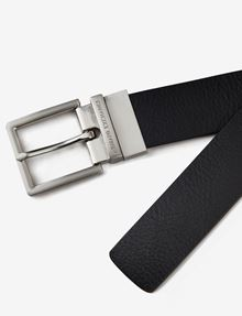 ARMANI EXCHANGE REVERSIBLE PERFORATED LOGO PLAQUE BELT Belt Man r
