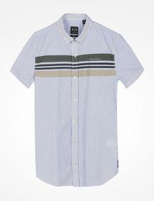 ARMANI EXCHANGE SHORT SLEEVE STRIPED SHIRT Short-Sleeved Shirt Man b