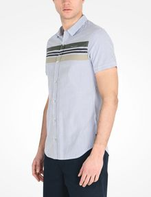 ARMANI EXCHANGE SHORT SLEEVE STRIPED SHIRT Short-Sleeved Shirt Man d