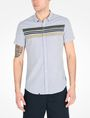 ARMANI EXCHANGE SHORT SLEEVE STRIPED SHIRT Short-Sleeved Shirt Man f