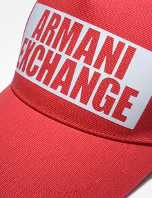 ARMANI EXCHANGE NEGATIVE SPACE LOGO CAP Hat U d