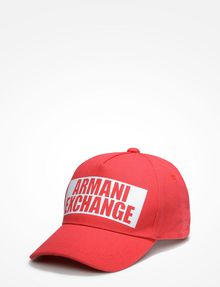 ARMANI EXCHANGE NEGATIVE SPACE LOGO CAP Hat U f
