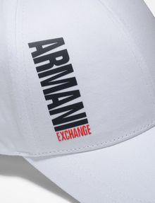 ARMANI EXCHANGE HIGH-SHINE PRINT LOGO HAT Hat Man d