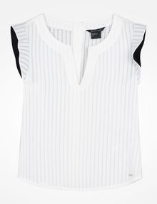 ARMANI EXCHANGE FLUTTER SLEEVE TOP S/L Woven Top Woman b