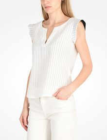 ARMANI EXCHANGE FLUTTER SLEEVE TOP S/L Woven Top Woman d