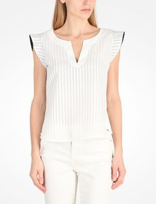 ARMANI EXCHANGE FLUTTER SLEEVE TOP S/L Woven Top Woman f