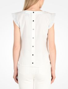 ARMANI EXCHANGE FLUTTER SLEEVE TOP S/L Woven Top Woman r