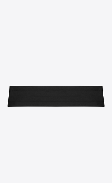 SAINT LAURENT Wide Belts D SMOKING 4 Pleat Cummerbund in Black a_V4