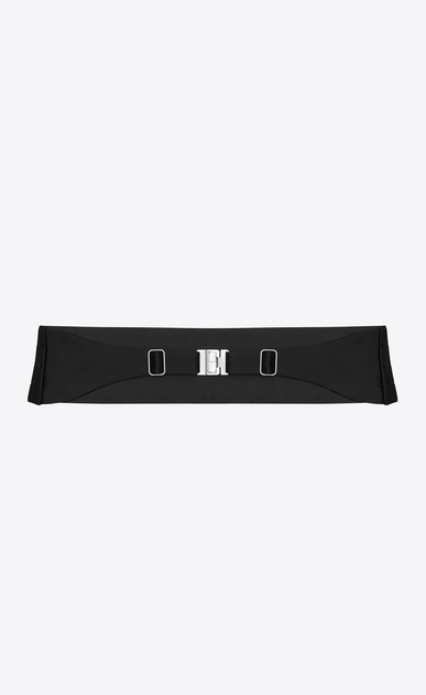 SAINT LAURENT Wide Belts D SMOKING 4 Pleat Cummerbund in Black b_V4