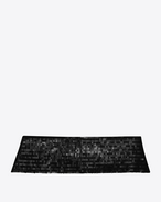 SAINT LAURENT Wide Belts D SMOKING 5 Pleat Sequins Cummerbund in Black f