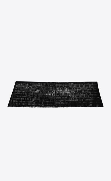 SAINT LAURENT Wide Belts D SMOKING 5 Pleat Sequins Cummerbund in Black v4