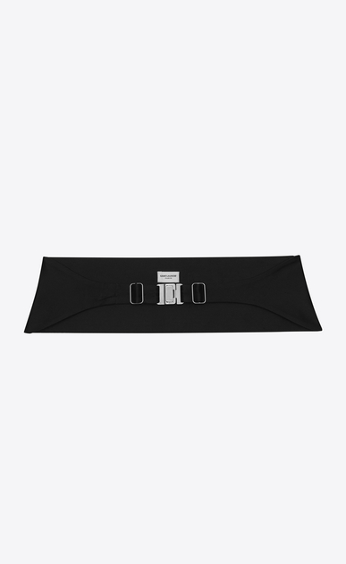 SAINT LAURENT Wide Belts D SMOKING 5 Pleat Sequins Cummerbund in Black b_V4
