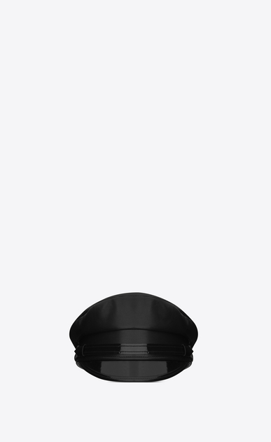 SAINT LAURENT Hats U military hat in black leather b_V4